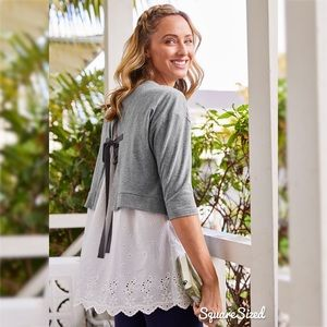 matilda jane in the clouds eyelet top